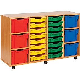 22 Variety Tray Storage Unit £327 - Education Furniture