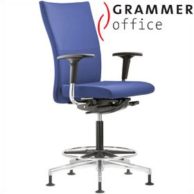 Grammer Office Extra Fabric High Back Ring Base Chair £467 - Office Chairs