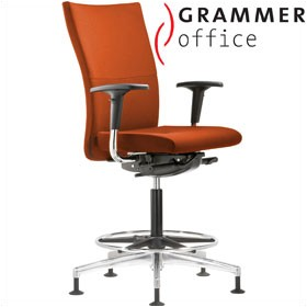 Grammer Office Extra Microfibre High Back Ring Base Chair £519 - Office Chairs