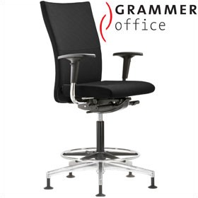Grammer Office Extra Textile Mesh High Back Ring Base Chair £527 - Office Chairs