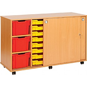 22 Variety Sliding Door Tray Storage Unit £0 - Education Furniture