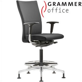 Grammer Office Extra Leather High Back Ring Base Chair £467 - Office Chairs