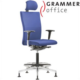 Grammer Office Extra Fabric High Back Ring Base Chair With Neckrest £600 - Office Chairs