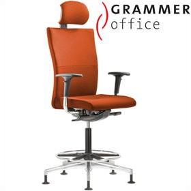 Grammer Office Extra Microfibre High Back Ring Base Chair With Neckrest £627 - Office Chairs