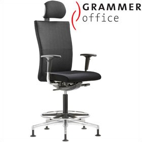 Grammer Office Extra Textile Mesh High Back Ring Base Chair With Neckrest £602 - Office Chairs