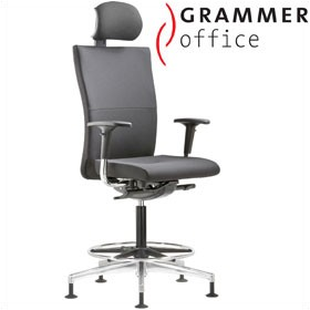 Grammer Office Extra Leather High Back Ring Base Chair With Neckrest £569 - Office Chairs