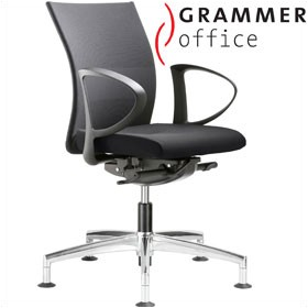 Grammer Office Extra Mesh & Leather Medium Back Swivel Conference Chair £384 - Office Chairs