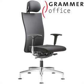 Grammer Office Extra Mesh & Fabric High Back Swivel Conference Chair With Neckrest £499 - Office Chairs
