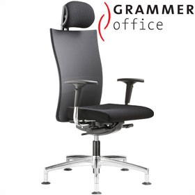 Grammer Office Extra Mesh High Back Swivel Conference Chair With Neckrest £497 - Office Chairs