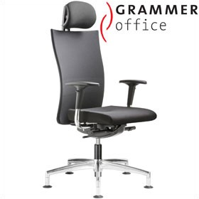 Grammer Office Extra Mesh & Leather High Back Swivel Conference Chair With Neckrest £499 - Office Chairs