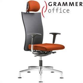 Grammer Office Extra Mesh & Microfibre High Back Swivel Conference Chair With Neckrest £557 - Office Chairs