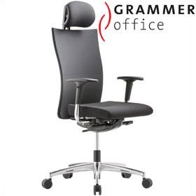 Grammer Office Extra Mesh & Fabric High Back Task Chair With Neckrest £420 - Office Chairs