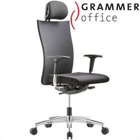 Grammer Office Extra Mesh & Leather High Back Task Chair With Neckrest £420 - Office Chairs