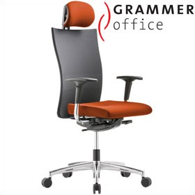 Grammer Office Extra Mesh & Microfibre High Back Task Chair With Neckrest £414 - Office Chairs