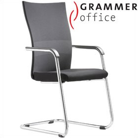 Grammer Office Extra Mesh & Leather Cantilever Side Chair £297 - Office Chairs