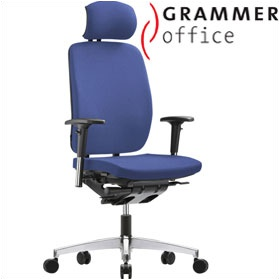 Grammer Office GLOBEline High Back Fabric Task Chair With Headrest £374 - Office Chairs
