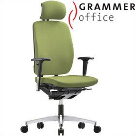 Grammer Office GLOBEline High Back Textile Mesh Task Chair With Headrest £384 - Office Chairs