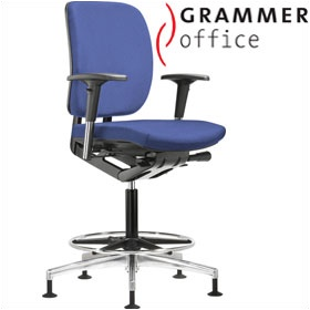 Grammer Office GLOBEline Ring Base Medium Back Fabric Reception Chair £386 - Office Chairs