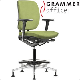 Grammer Office GLOBEline Ring Base Medium Back Textile Mesh Reception Chair £415 - Office Chairs