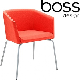 Boss Design Toto Low Back Chrome Tub Chairs £341 - Reception Furniture