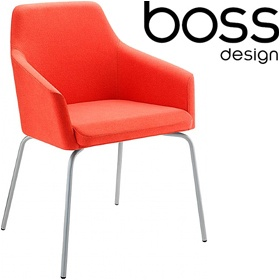 Boss Design Toto High Back Chrome Tub Chairs £332 - Reception Furniture