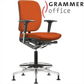 Grammer Office GLOBEline Ring Base Medium Back Microfibre Reception Chair £427 - Office Chairs
