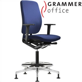 Grammer Office GLOBEline Ring Base High Back Fabric Reception Chair £423 - Office Chairs