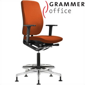 Grammer Office GLOBEline Ring Base High Back Microfibre Reception Chair £421 - Office Chairs