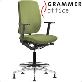 Grammer Office GLOBEline Ring Base High Back Textile Mesh Reception Chair £430 - Office Chairs