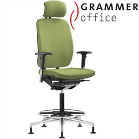 base high back textile mesh chair with headrest 500 office chairs