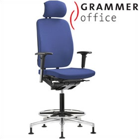 Grammer Office GLOBEline Ring Base High Back Fabric Chair With Headrest £507 - Office Chairs
