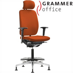 Grammer Office GLOBEline Ring Base High Back Microfibre Chair With Headrest £527 - Office Chairs