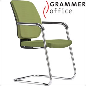 Grammer Office GLOBEline Textile Mesh Cantilever Side Chair £255 - Office Chairs