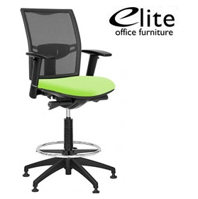 Elite Loreto Mesh Draughtsman Chairs 293 Office Chairs