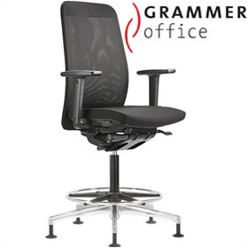 Grammer Office GLOBEline Ring Base High Back Mesh & Fabric Reception Chair £449 - Office Chairs