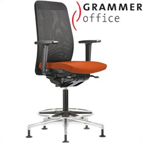 Grammer Office GLOBEline Ring Base High Back Mesh & Microfibre Chair £487 - Office Chairs