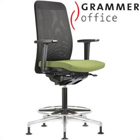 Grammer Office GLOBEline Ring Base High Back Mesh Reception Chair £469 - Office Chairs
