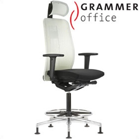 Grammer Office GLOBEline Ring Base High Back Mesh & Fabric Chair With Headrest £596 - Office Chairs