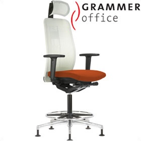 Grammer Office GLOBEline Ring Base High Back Mesh & Microfibre Chair With Headrest £579 - Office Chairs