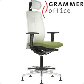 Grammer Office GLOBEline Ring Base High Back Mesh Chair With Headrest £618 - Office Chairs