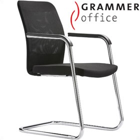 Grammer Office GLOBEline Mesh & Fabric Cantilever Side Chair £267 - Office Chairs