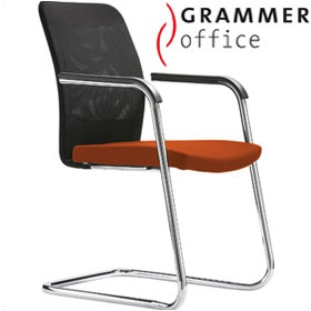 Grammer Office GLOBEline Mesh & Microfibre Cantilever Side Chair £281 - Office Chairs