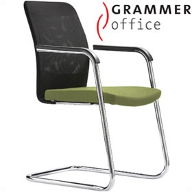 Grammer Office GLOBEline Mesh Cantilever Side Chair £303 - Office Chairs