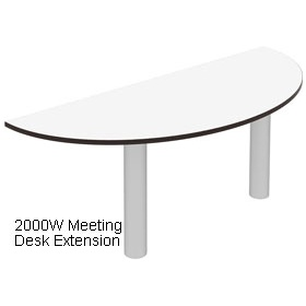 Elite Optima Plus Double Wave Desk Meeting Extensions £488 - Office Desks