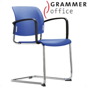 Grammer Office Passu Plastic Cantilever Side Chair £124 - Office Chairs