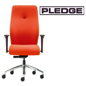Pledge Tas High Back Custom Task Chair With Arms £285 - Office Chairs