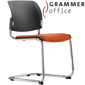 Grammer Office Passu Microfibre Upholstered Cantilever Side Chair £148 - Office Chairs