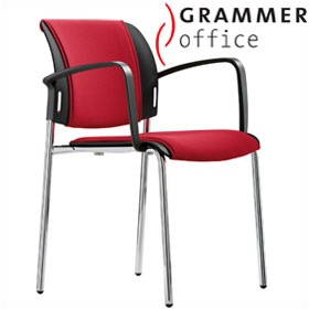 Grammer Office Passu Fabric Upholstered 4-Leg Side Chair £123 - Office Chairs