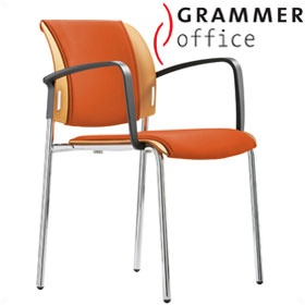 Grammer Office Passu Microfibre Upholstered 4-Leg Side Chair £135 - Office Chairs