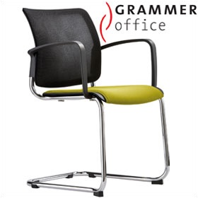 Grammer Office Passu Mesh & Fabric Upholstered Cantilever Side Chair £176 - Office Chairs